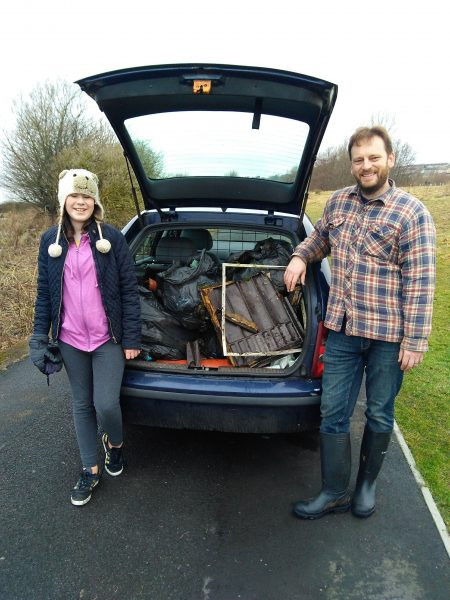 FodF early pick - my family loading car for the tip-trip